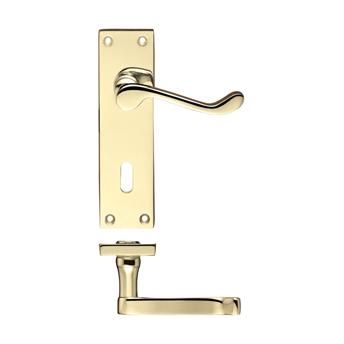 Lever On Backplate Door Handle PR021-EB