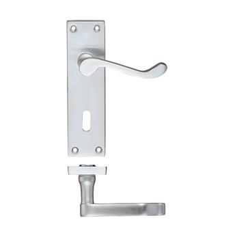 Lever On Backplate Door Handle PR021-SC