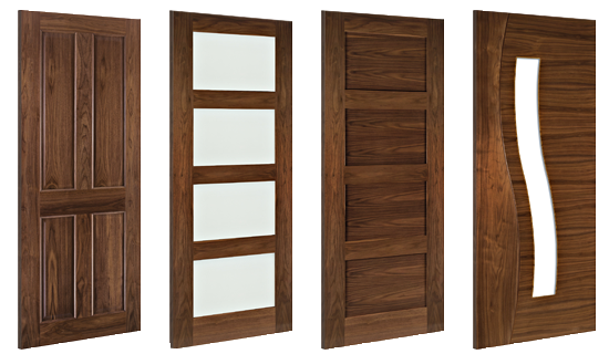 Walnut Door Collection - Door & Timber Supplies - Solid Walnut Doors