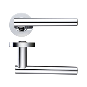 Lever On Rose Door Handle ZPZ090-CP