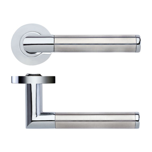 Lever On Rose Door Handle ZPZ170-CPSS